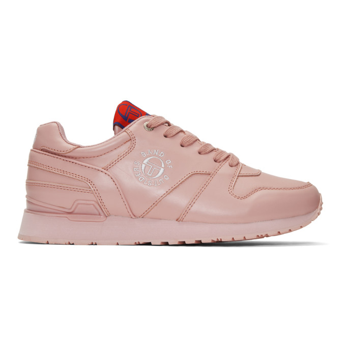 Band of Outsiders Baskets en cuir roses edition Sergio Tacchini