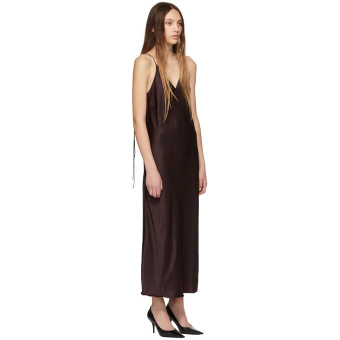 e10fa2020ea0 Helmut Lang Raw Detail Slip Dress In Brown | ModeSens