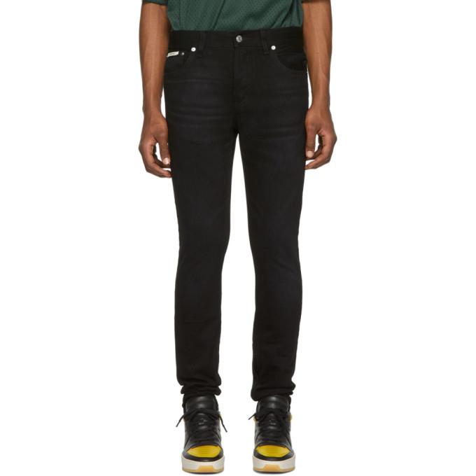 Essentials Black Skinny Taper Jeans