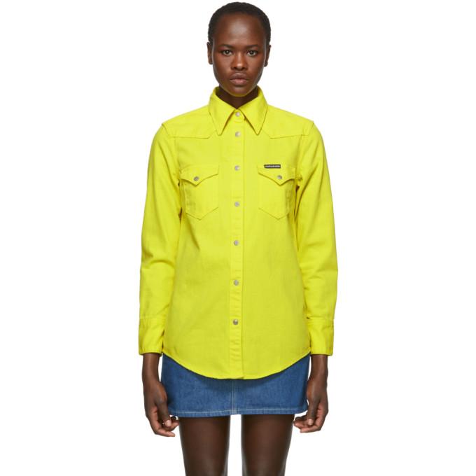 Calvin Klein Jeans Yellow Denim Western Shirt