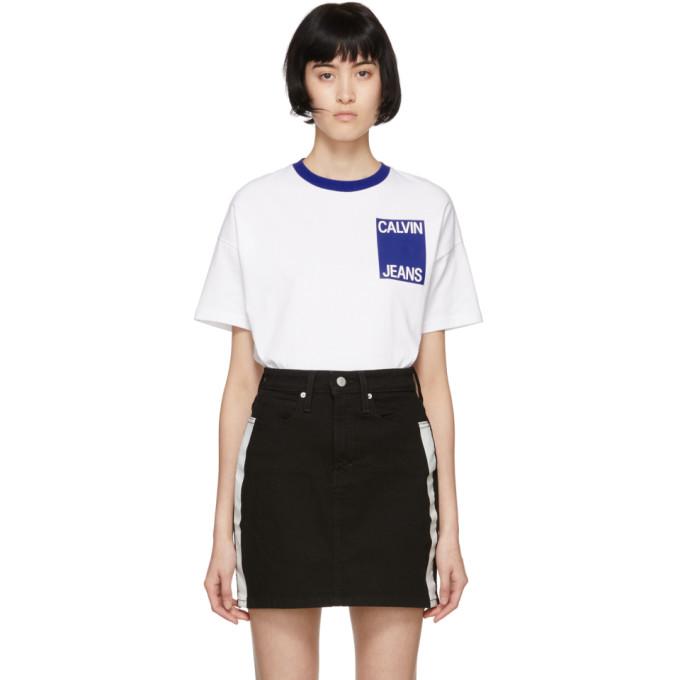 Calvin Klein Jeans White Graphic T-Shirt