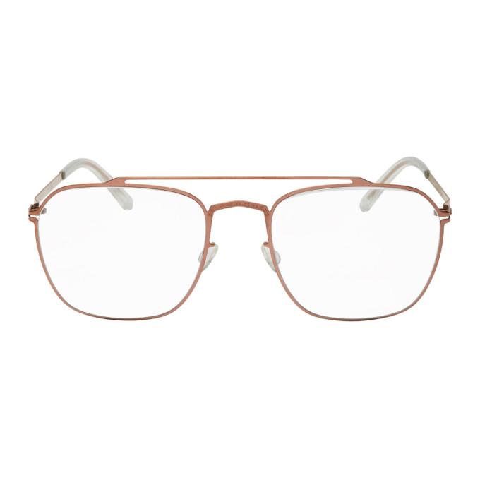 MAISON MARGIELA   Maison Margiela Copper Mykita Edition MMCRAFT006 Glasses   Goxip