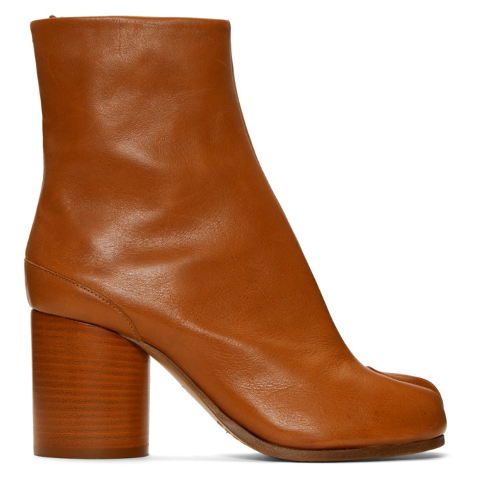 Maison Margiela Brown Tabi Boots