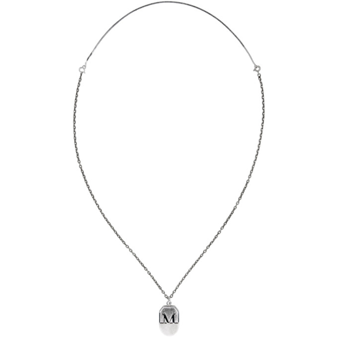 Maison Margiela Silver Pendant Necklace