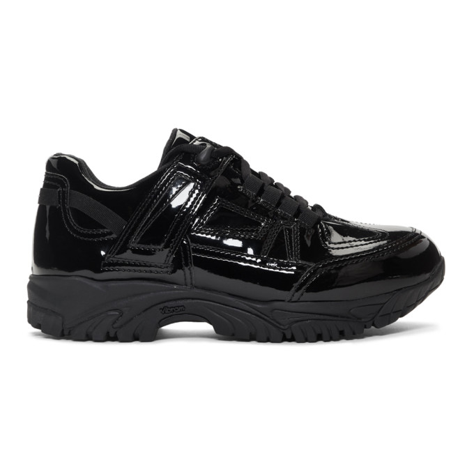 Maison Margiela Black Coated Security Sneakers
