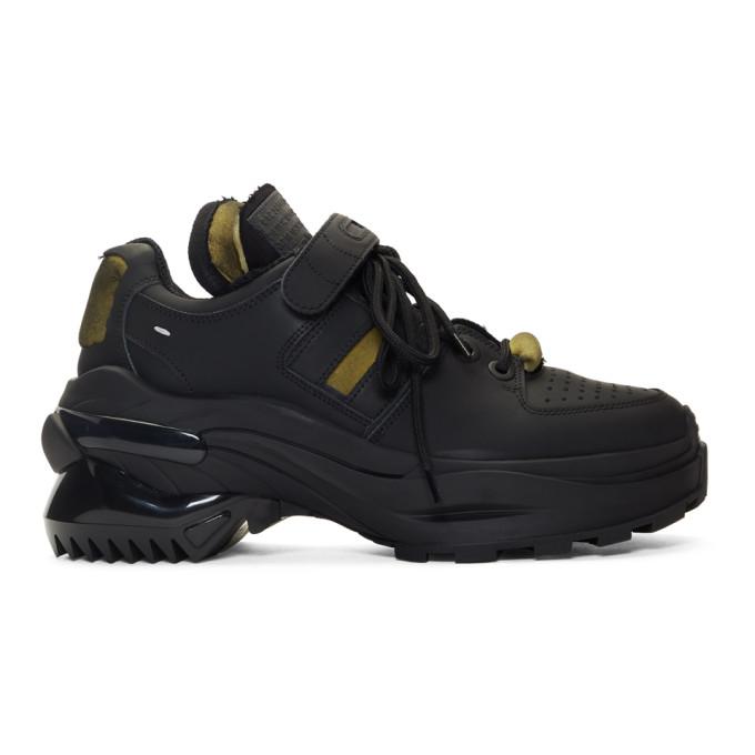 Maison Margiela Black Rubber Artisanal Sneakers