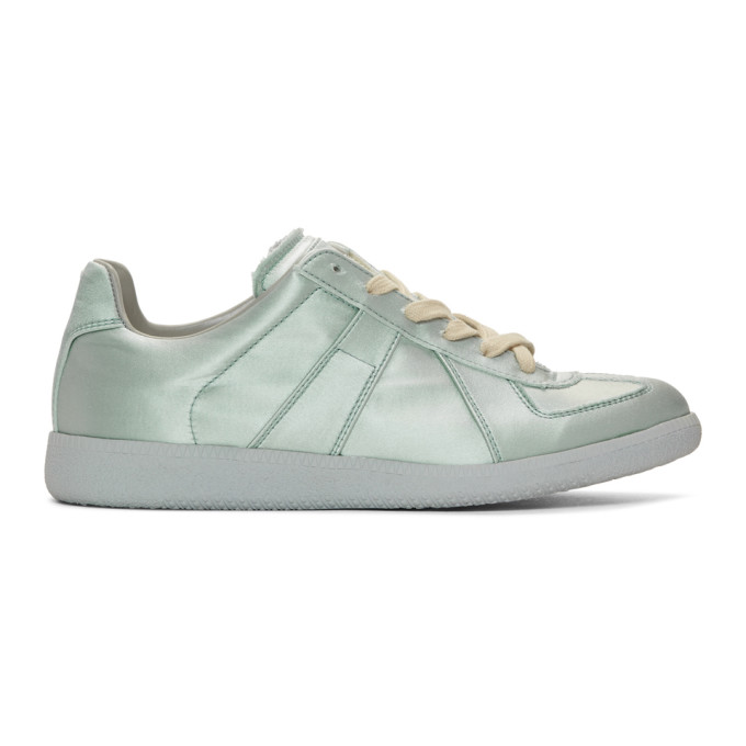 Maison Margiela Blue Satin Replica Sneakers