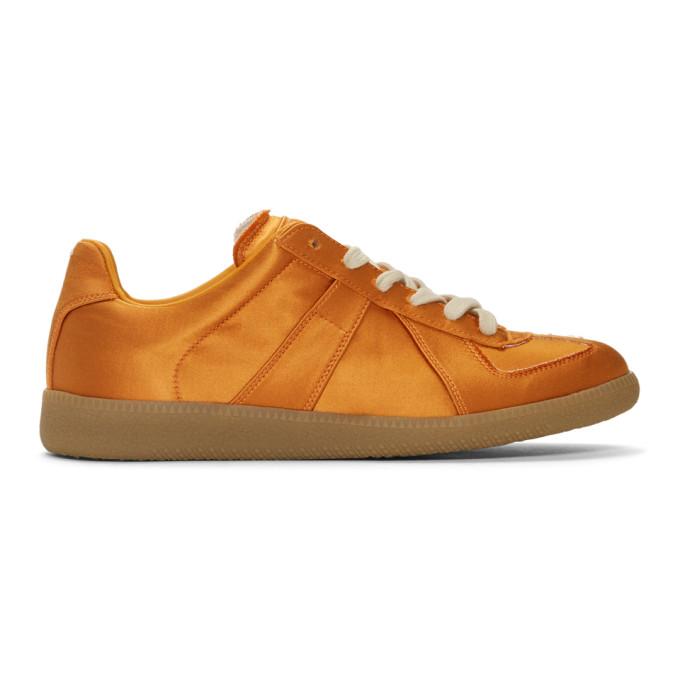 Maison Margiela Orange Satin Replica Sneakers