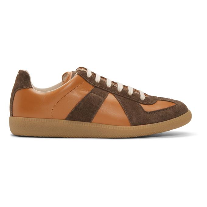 Maison Margiela Tan & Brown Replica Sneakers
