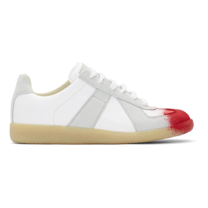 Maison Margiela White & Red Replica Sneakers