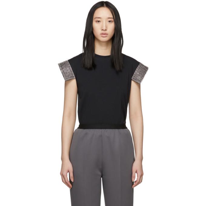 Christopher Kane T-shirt noir Crystal
