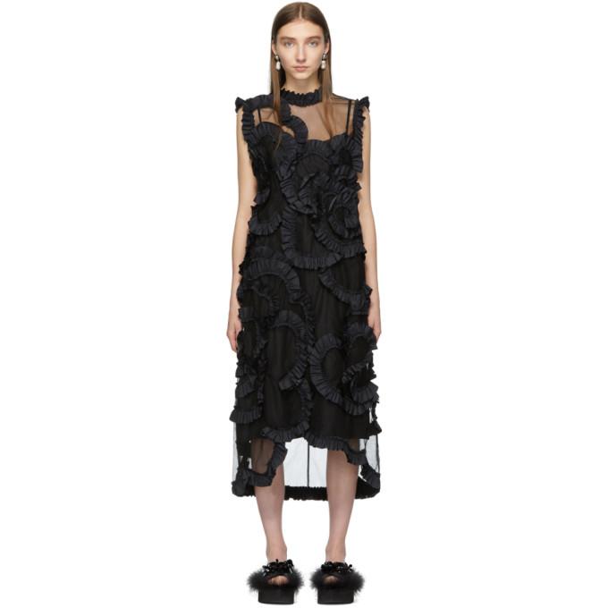 Moncler Genius Dresses MONCLER GENIUS 4 MONCLER SIMONE ROCHA BLACK FLORAL DRESS
