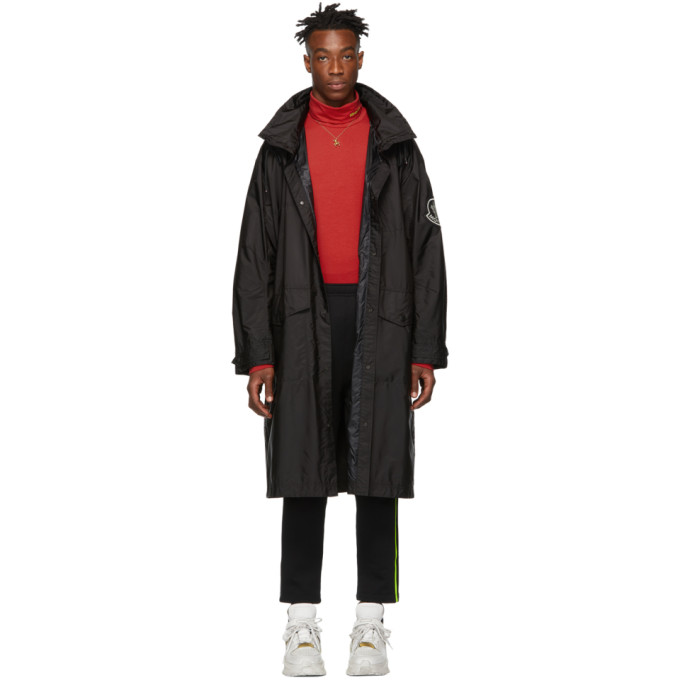 Moncler Genius  MONCLER GENIUS 2 MONCLER 1952 BLACK GREG LONG COAT