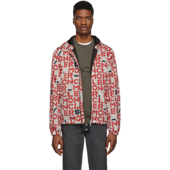Moncler Genius  2 MONCLER 1952 WHITE & RED DORFMAN JACKET