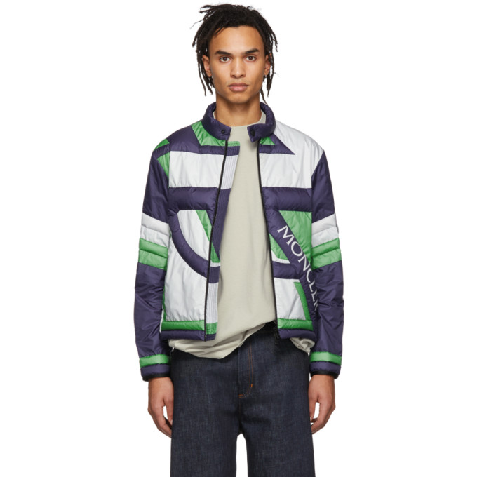 Moncler Genius Moncler Genius 5 Moncler Craig Green Navy and Green Down Traction Jacket