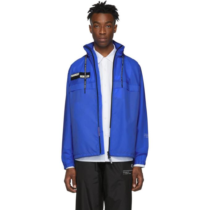 MONCLER | Moncler 7 Moncler Fragment Hiroshi Fujiwara Blue Nylon Patch Jacket | Goxip