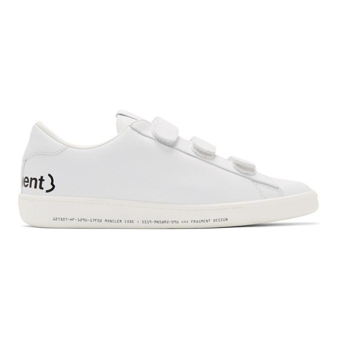 Moncler Genius 7 Moncler Fragment Hiroshi Fujiwara 白色皮革运动鞋