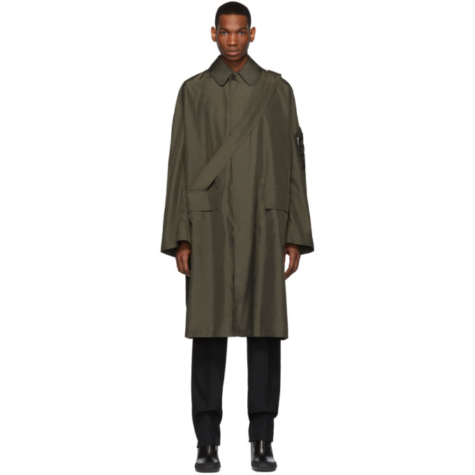 Random Identities Bronze Satin Overcoat