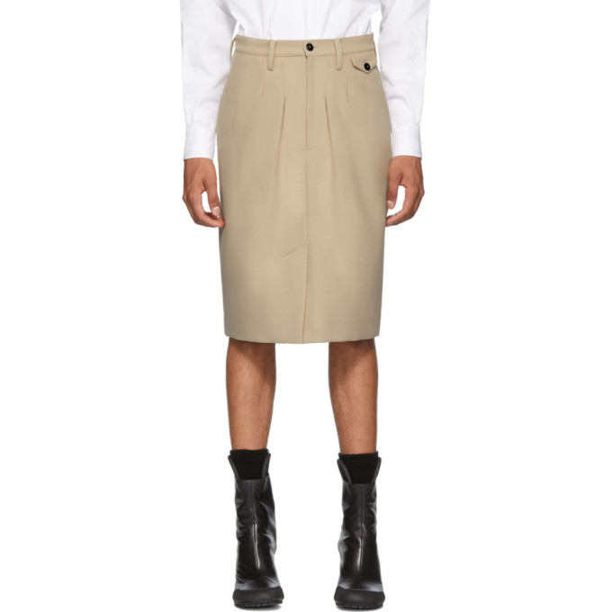 Random Identities Beige Chinos Skirt