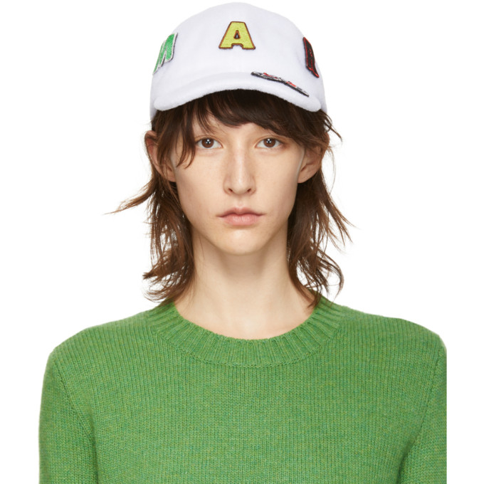 Marni Dance Bunny Casquette blanche Bunny Patch