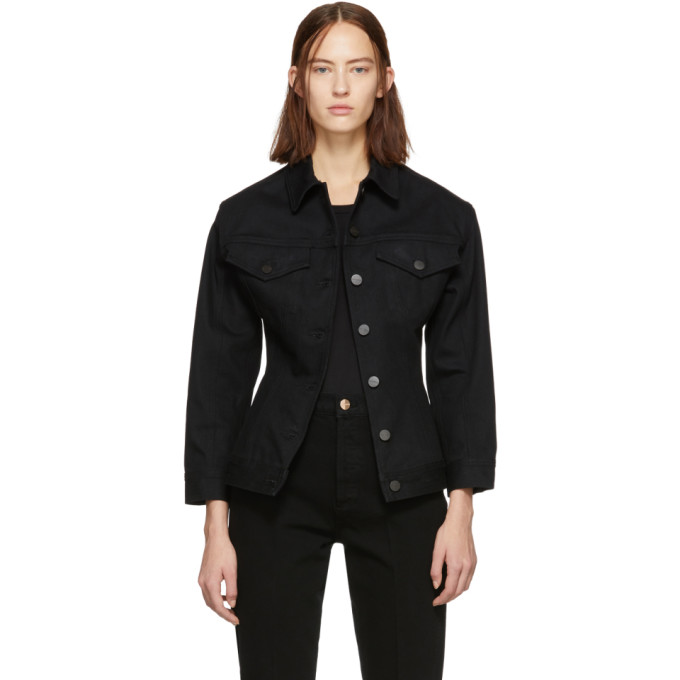 GOLDSIGN Goldsign Black Denim The Waisted Jacket