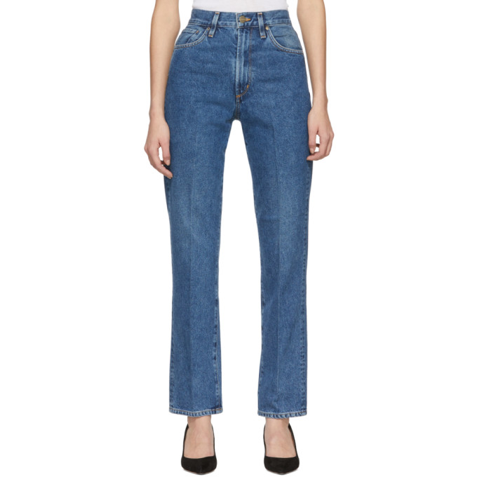 GOLDSIGN Goldsign Blue The Classic Fit Jeans in True Blue