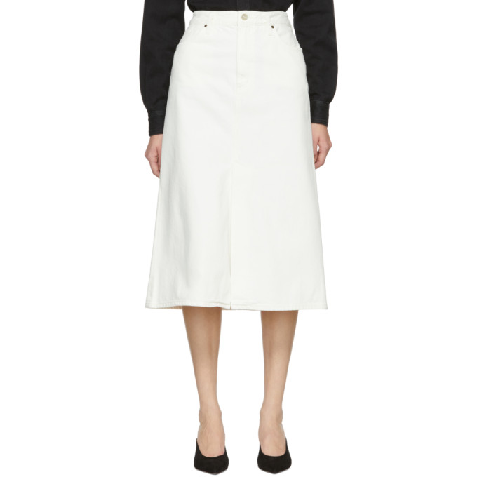 GOLDSIGN Goldsign White The A Skirt in Pearl