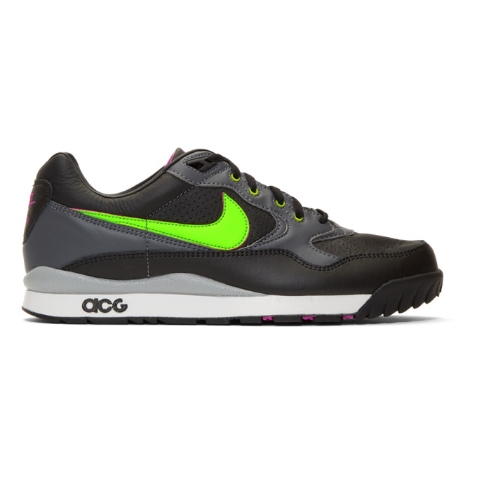 Nike ACG Black & Green Air Wildwood Sneakers