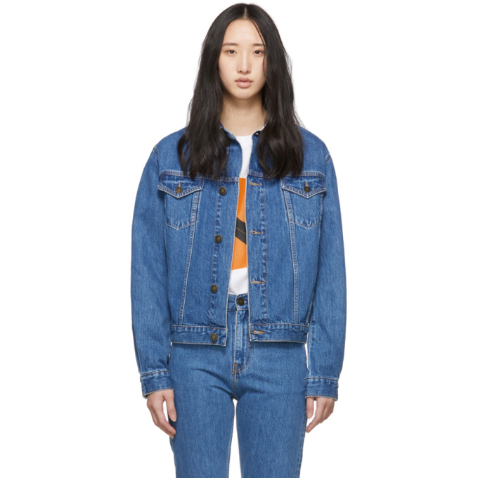 Calvin Klein Jeans Est. 1978 Blue Denim Trucker Jacket