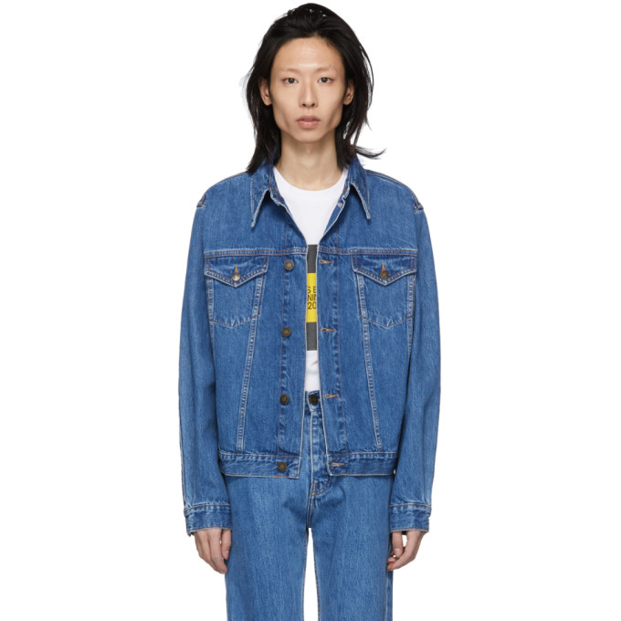 Calvin Klein Jeans Est. 1978 ブルー デニム トラッカー ジャケット