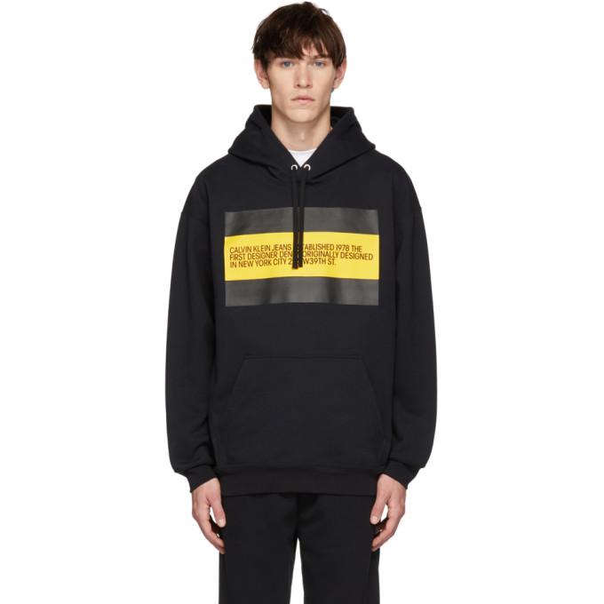 Calvin Klein Jeans Est. 1978 Black 'Est. 1978' Patch Hoodie