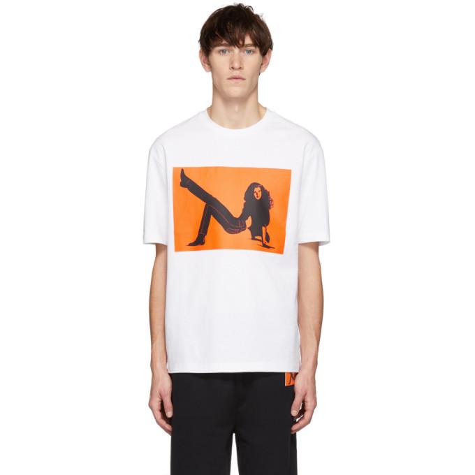 Calvin Klein Jeans Est. 1978 White & Orange Icon Printed T-Shirt