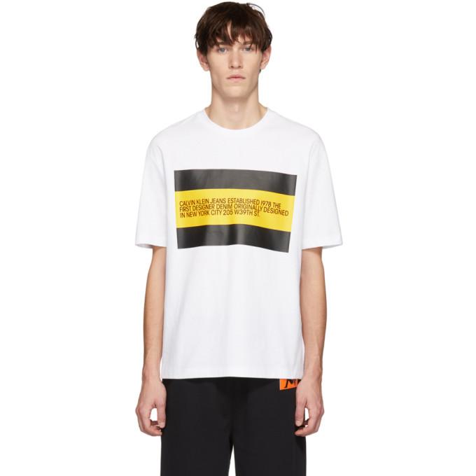 Calvin Klein Jeans Est. 1978 White 'Est. 1978' Patch T-Shirt