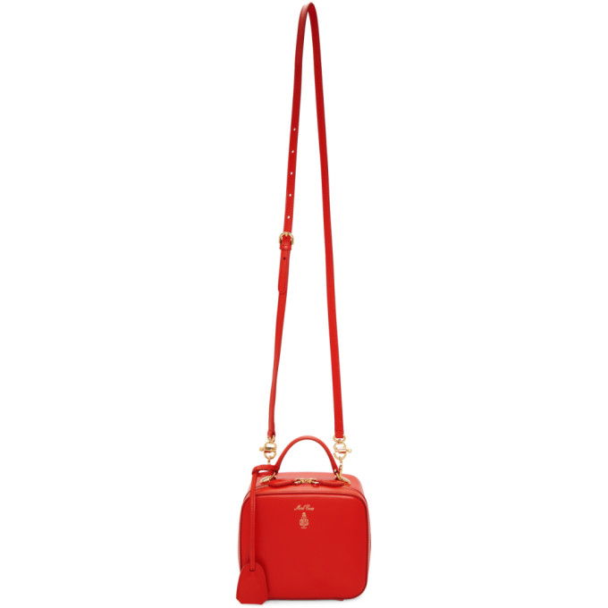 Mark Cross Red Baby Laura Bag