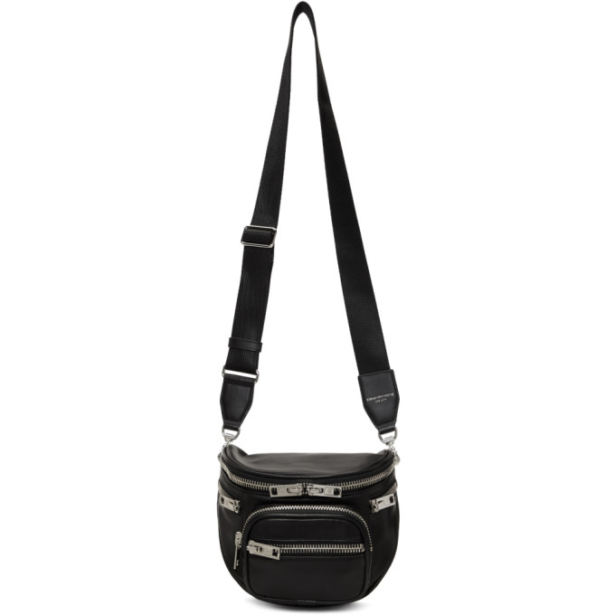 Image of Alexander Wang Black Attica Fanny Messenger Bag