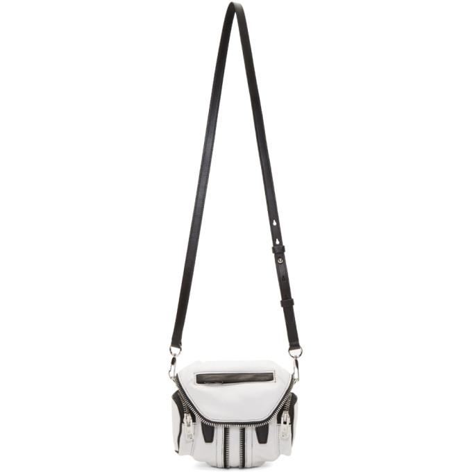Alexander Wang White Micro Marti Crossbody Bag in 995 Blk/Wht