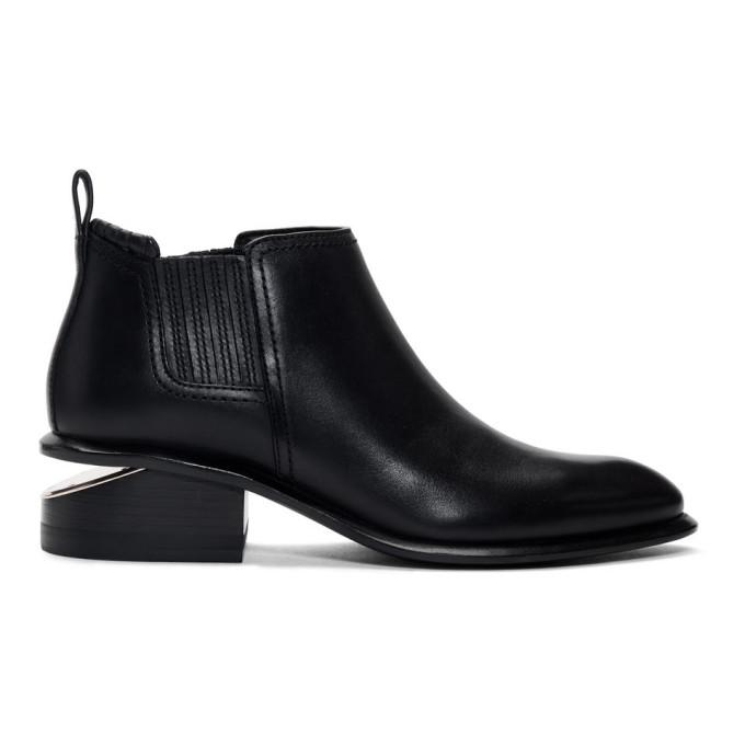 Alexander Wang Black & Rose Gold Kori Boots