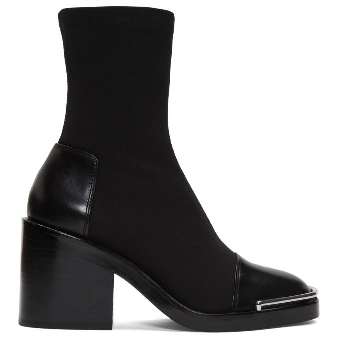 Alexander Wang Black Hailey Sock Boots