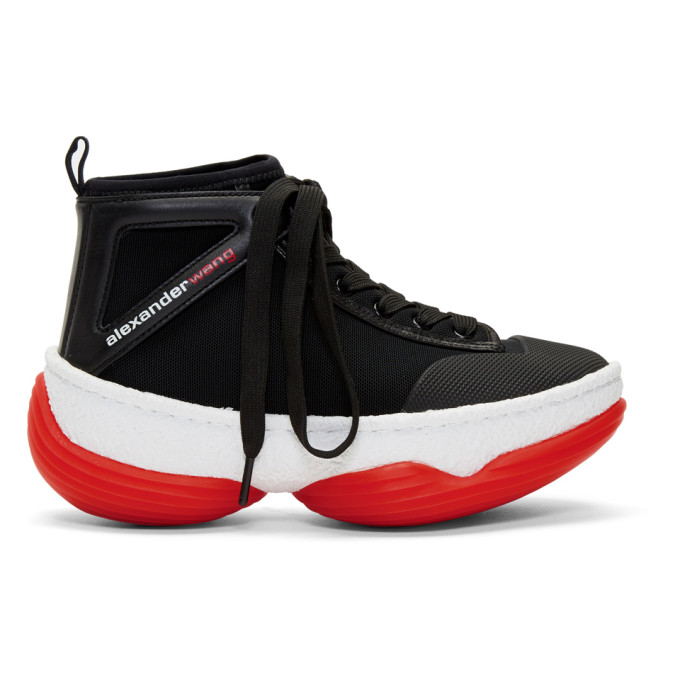 Image of Alexander Wang Black A1 High-Top Sneakers