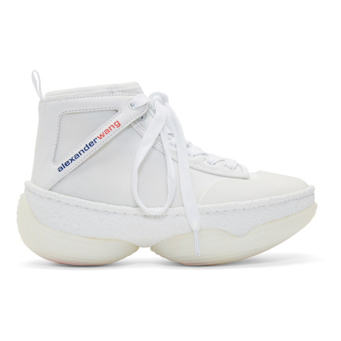 Alexander Wang White A1 High-Top Sneakers