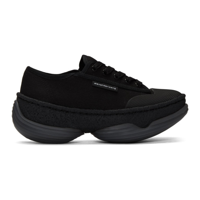 Image of Alexander Wang Black A1 Low Sneakers