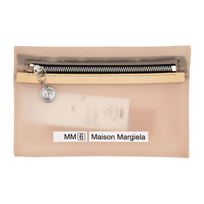MM6 | MM6 Maison Margiela Pink Small Opaque Envelope Pouch | Goxip