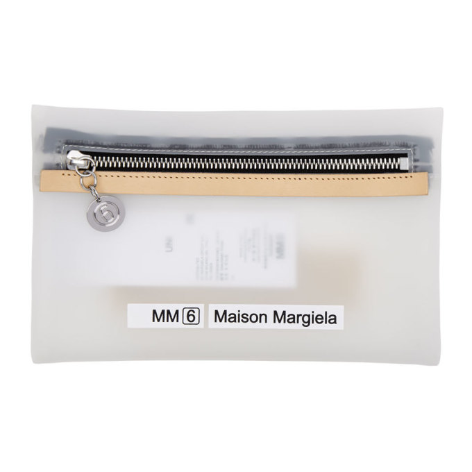 MM6 | MM6 Maison Margiela Transparent Small Opaque Envelope Pouch | Goxip