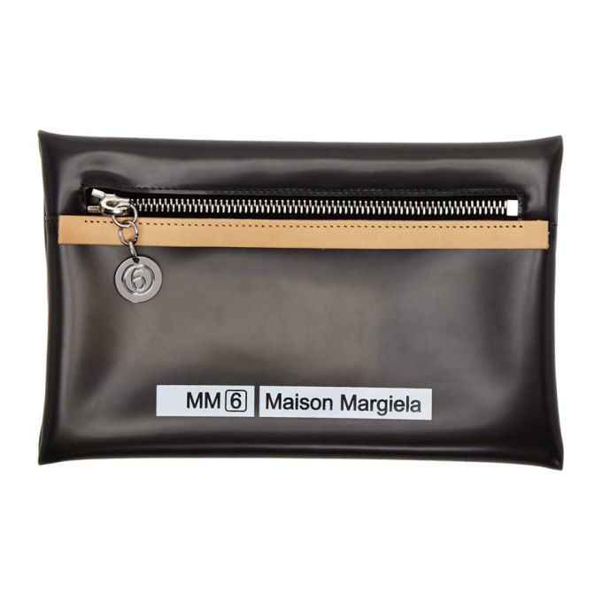 MM6 | MM6 Maison Margiela Grey Small Opaque Envelope Pouch | Goxip