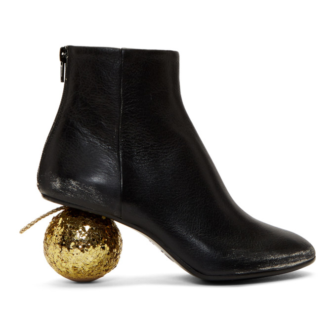 MM6 Maison Margiela Black Ball Heel Boots