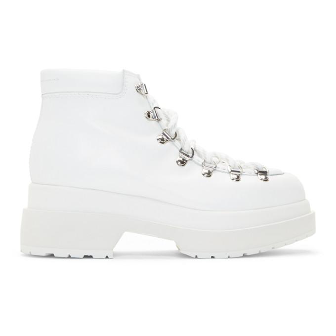 MM6 Maison Margiela White Hiking Boots