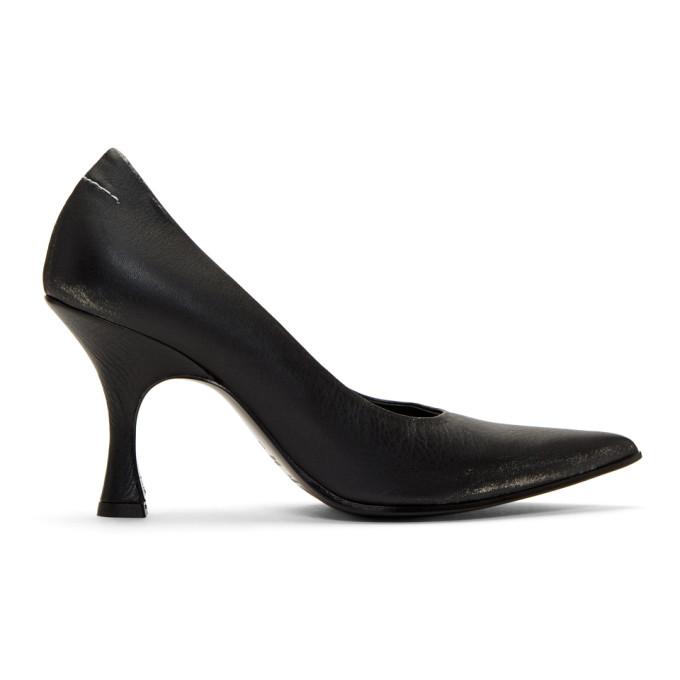 MM6 Maison Margiela Black Distressed Heels