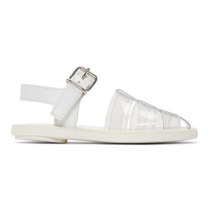 MM6 Maison Margiela White PVC Pool Slides