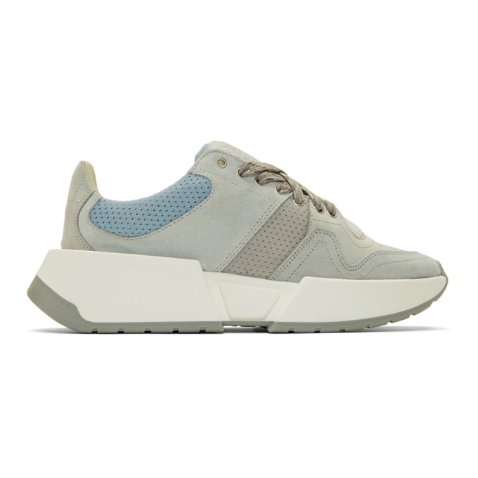 MM6 Maison Margiela Grey and Blue Flare Sneakers