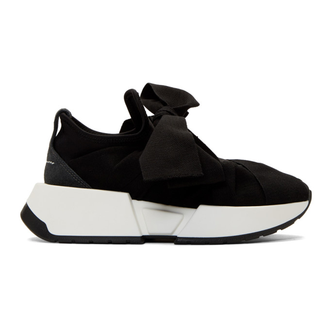 MM6 Maison Margiela Black Bow Flare Sneakers